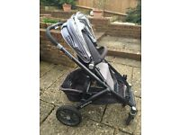 Uppa Baby buggy with double attachments