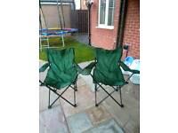 2x folding camping chairs
