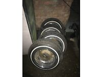 4x Dayton wire wheels with adapters