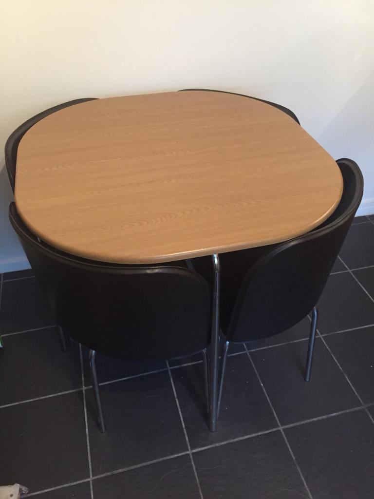 Argos Hygena Dining Table Plus 4 Nesting Chairs