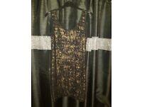 Ladies Black and Gold dress