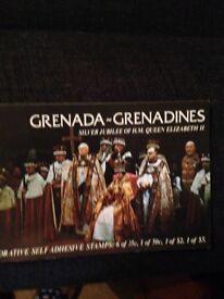 Grenada silver jubilee commemorative stamps