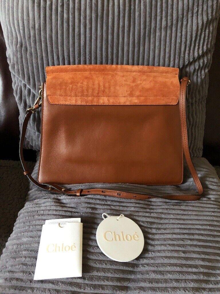 Original Chloe Faye Shoulder bag in smooth calfskin and suede calfskin. 332058c756