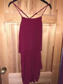 H&M size 16 wine red playsuit