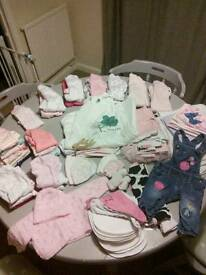 Newborn/first sizes girls bundle