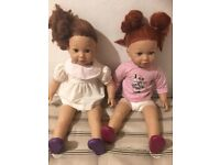 Two American sized dolls for sale