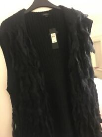 River island size 18 black cardigan