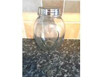Loveheart jar