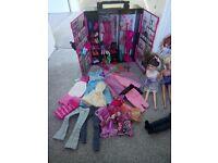 Barbie wardrobe, accessories, car & dolls