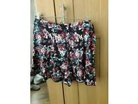 Women's floral shorts