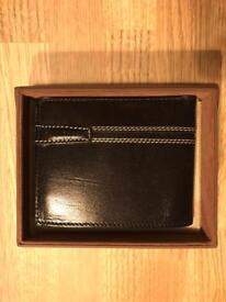 Black Italian leather wallet new retail over £35.00
