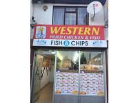 Chicken and chips fish shop