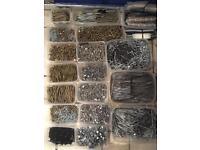 Job lot thousands of screws and nails