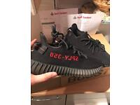 "Adidas Yeezy V2 black/red ""bred"" - Size 7 - from footlocker / deadstock - sold out worldwide! £450"
