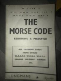1941 morse code book