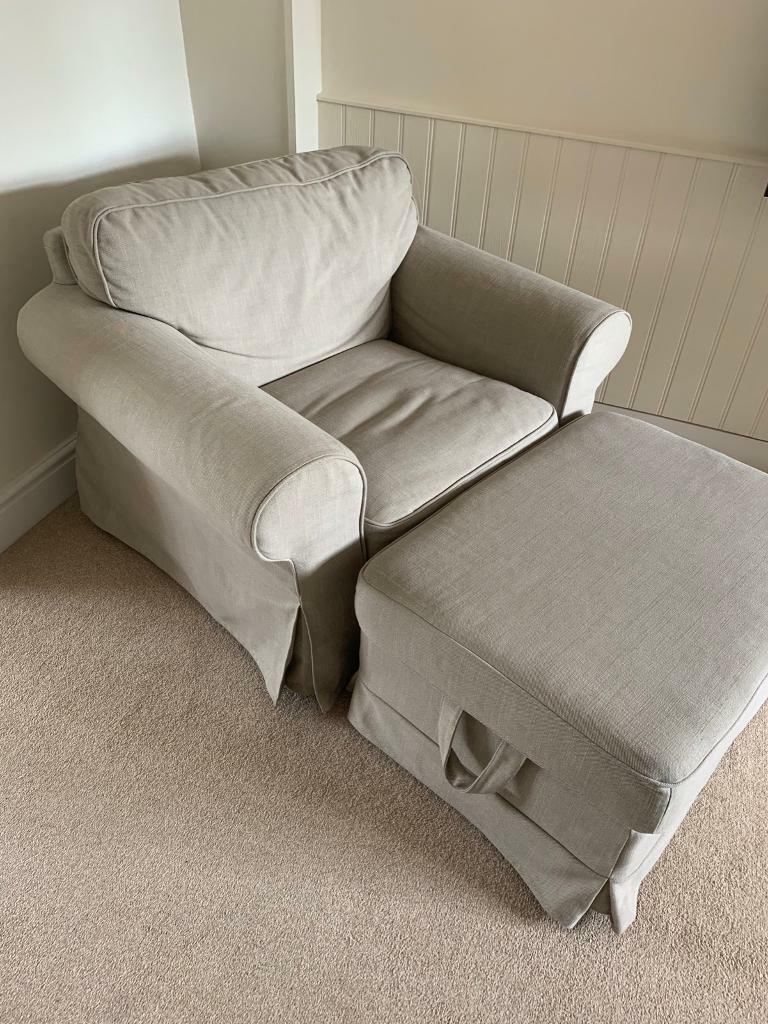 Stupendous Armchair And Storage Ottoman Footstool In Kidlington Oxfordshire Gumtree Ibusinesslaw Wood Chair Design Ideas Ibusinesslaworg