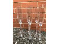 Set if 6 champagne flutes