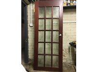 Hardwood Internal Glazed Door with Handle