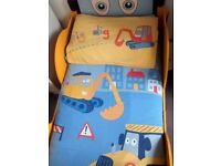 Digger 'toddler bed size' quilt covers (2)
