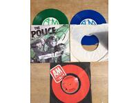 The Police 7 inch coloured vinyl singles