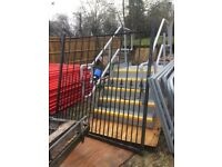 Metal security driveway single gate 5ft8 X 5ft6