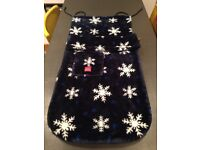 Buggy snuggle push chair stroller blanket foot muff cosy toes