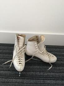 Risport Ladies Ice Skates Size 6 White Leather