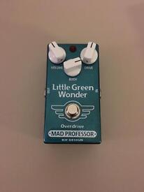 Mad professor little green wonder overdrive guitar pedal