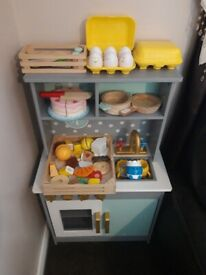 Childrens play kitchen and accessories