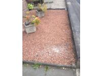 Free to collect red chip garden stones
