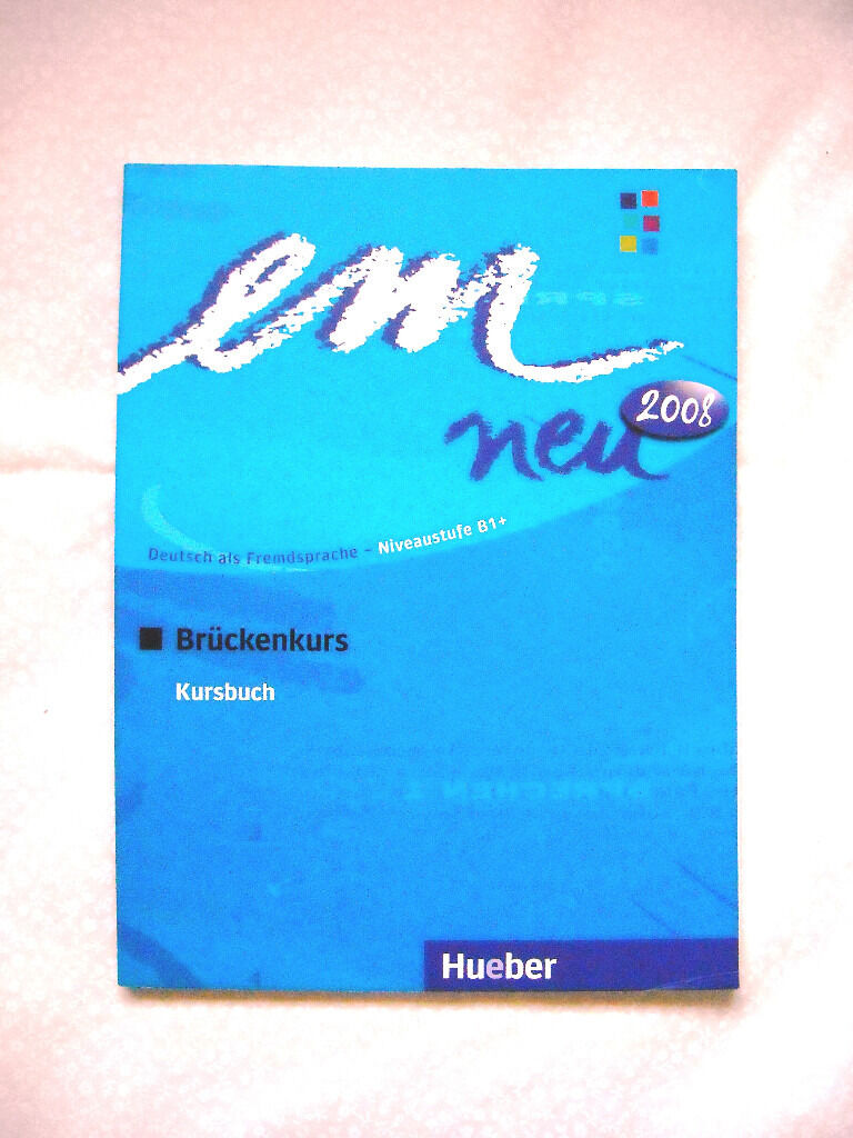 German Kursbuch Deutsch als Fremdsprache NIVEAU B12008in Reading, BerkshireGumtree - Hi, Im selling Hueber, EM NEU 2008 BRUCKENKURS Deutsh als Fremdsprache Kursbuch Niveaustufe B1 Michaela Perlmann Balme , Susanne Schwalb, Dorte Weers, 2008 Unused, almost like new. Thank you!