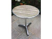 Small Teak Wood and Metal Garden Table