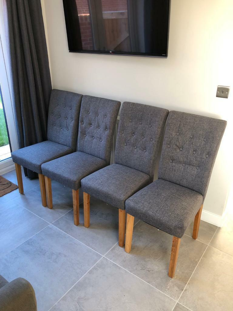 premium selection 8572b 2181b SOLD 4 x Harveys Grey Fabric Dining Chairs | in Mansfield, Nottinghamshire  | Gumtree