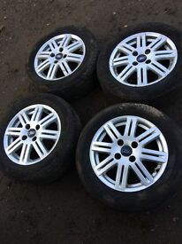 full set of Ford focus 8 spoke split style alloy wheels 4 stud