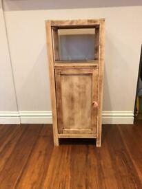 Bathroom storage wood cabinet
