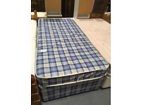 Single divan with mattress