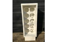 White gloss finish wine rack by Magnet