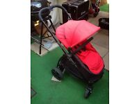 iCandy Strawberry 2 Lush/red and black frame pushchair and carrycot 11 month warranty