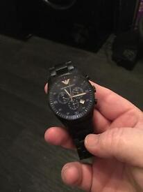 Armani men's black watch