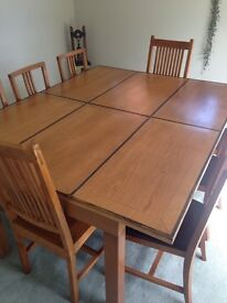 Dining or conference table, Barker and Stonehouse, three size options. Extremely heavy. 8 chairs