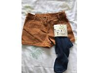 Next girls shorts and tights - brand new - age 10