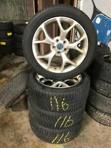 215 50R 17 MICHELIN X ICE WINTER SNOW TIRES & RIMS 5X108 BOLT PATTERN 2012-2018 FACTORY FORD FOCUS RIM FUSION 8/32NDS!
