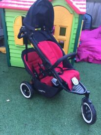Phil&Ted DoubleBuggy Dot,in excellent conditon with all needed Rain, Sun seat adaptation Acessories