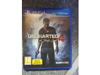 Uncharted 4 Playstation 4 Game Excellent Condition
