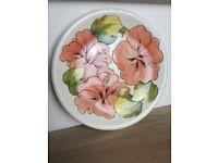 Large moorcroft hibiscus plate