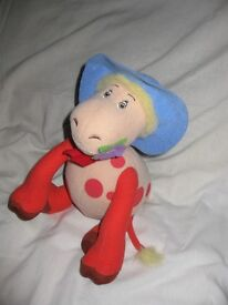 "10"" talking Ermintrude the cow from the magic roundabout vivid plush doll"