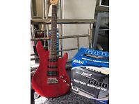 Ashton GA10 Guitar Amplifier And Ashton Guitar With Case And Guitar Stand