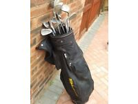 Set of right hand Golf Clubs with Bag and Trolley £30