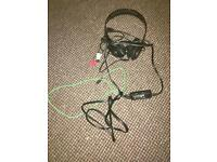 Xbox360 Afterglow headset and chat controller