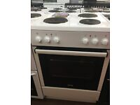 60CM WHITE HOTPLATE ELECTRIC COOKER